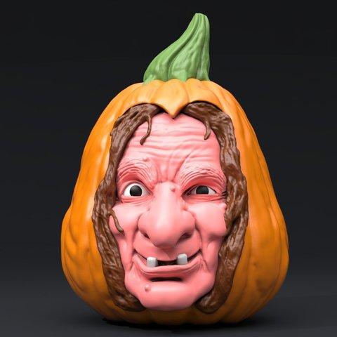 halloween_wich2.jpg Download STL file Pumpkin Witch • 3D printable model, iradj3d