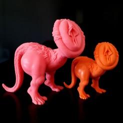 Descargar archivo STL Dino Pussy • Objeto imprimible en 3D, iradj3d