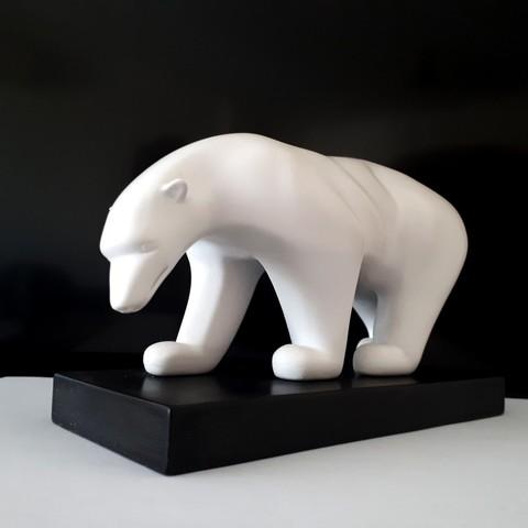 20180326_150414.jpg Download STL file Polar bear • 3D printing template, iradj3d
