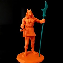 Download 3D printing files Anubis , iradj3d