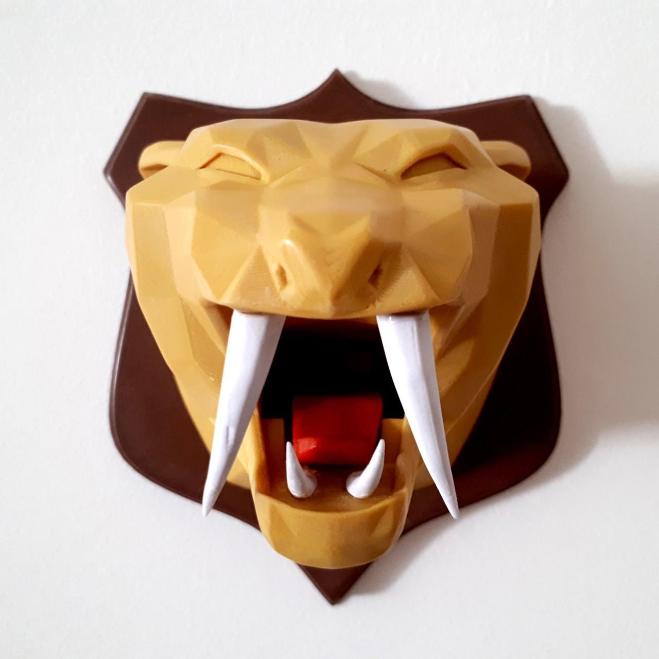 20180221_114009.jpg Download STL file Tiger head lowpoly • 3D printable model, iradj3d