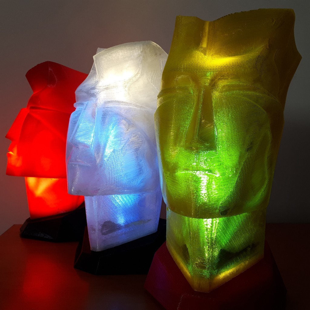 20180324_130010.jpg Download STL file Man head table lamp • 3D printable design, iradj3d