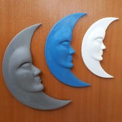 STL file moon, iradj3d