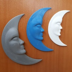 stl moon, iradj3d