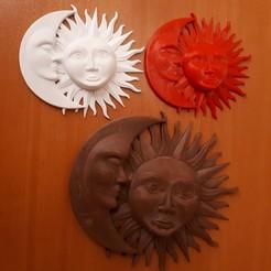 3D print model sun & moon, iradj3d