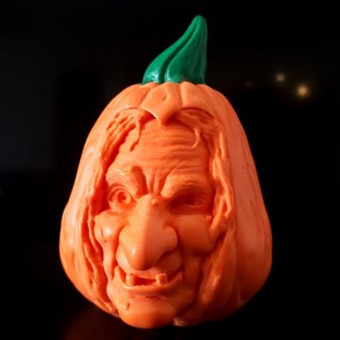 20181014_093218.jpg Download STL file Pumpkin Witch • 3D printable model, iradj3d