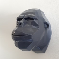Download 3D model gorilla head lowpoly, iradj3d