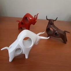 Modèle 3D 3 taureaux, iradj3d
