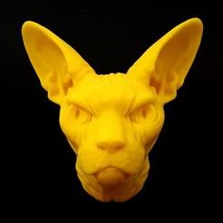 Download 3D print files Sphynx Cat Head, iradj3d