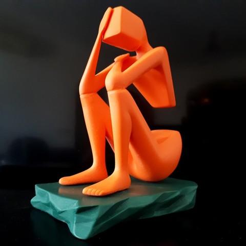 20180329_123341.jpg Download STL file Thinker • 3D print design, iradj3d