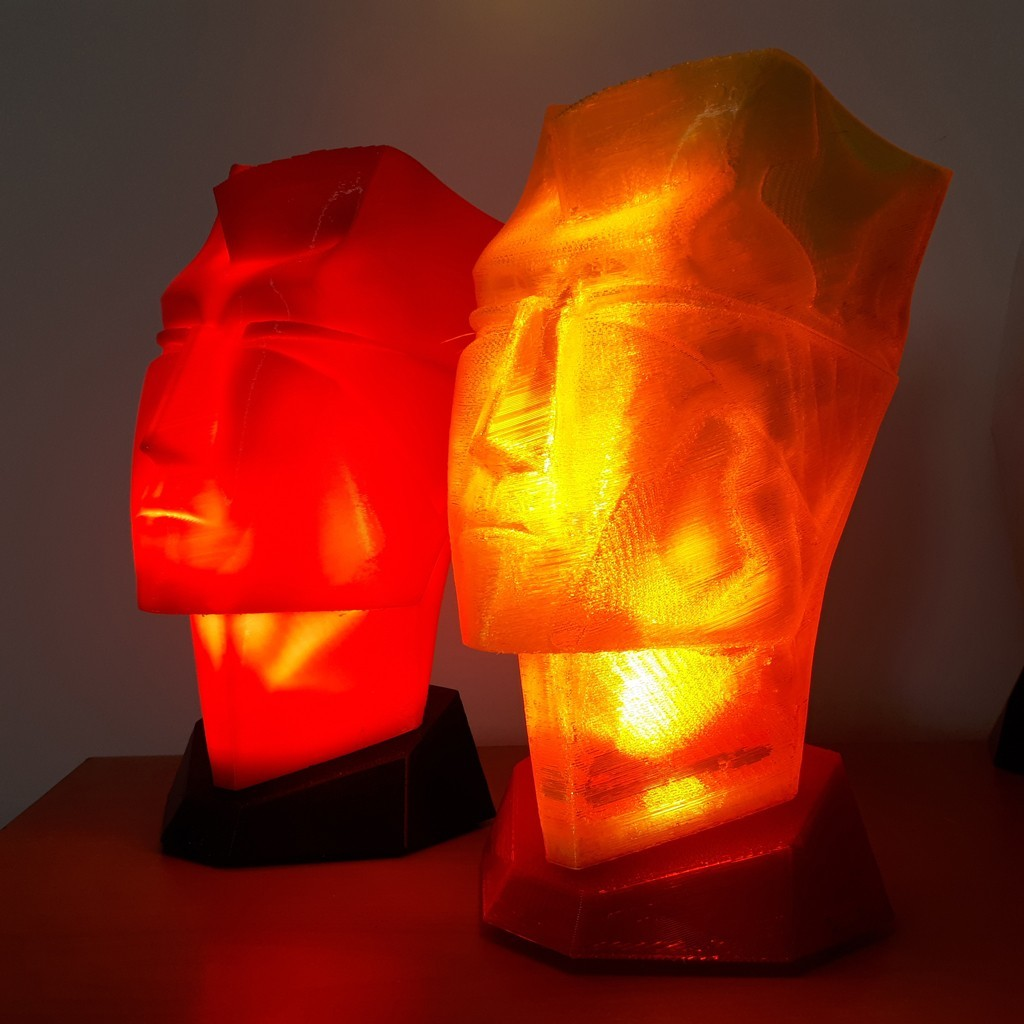 20180324_125654.jpg Download STL file Man head table lamp • 3D printable design, iradj3d