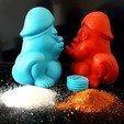 3D printing model Salt & Pepper shakers Dicky V2, iradj3d