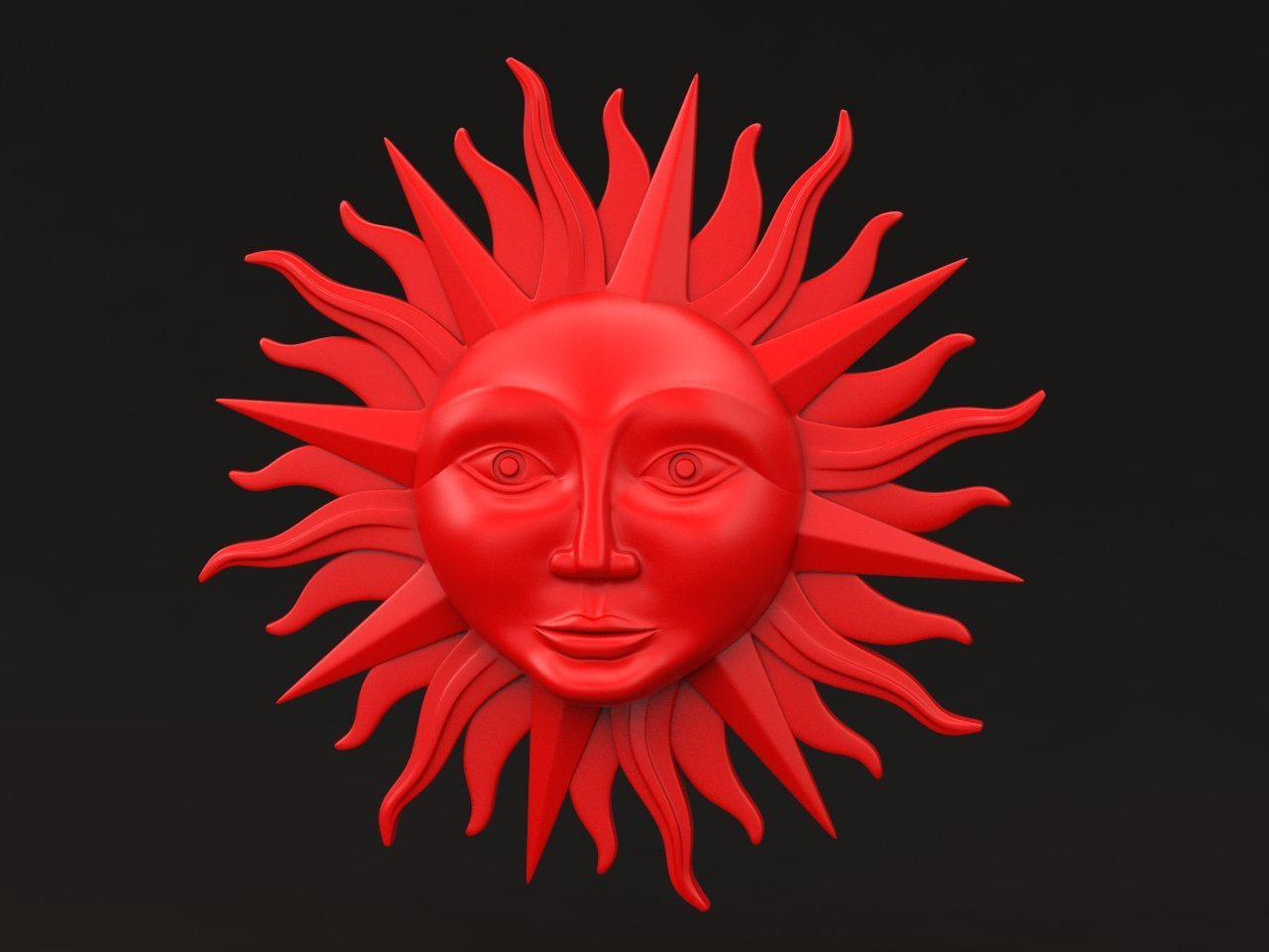 sun_red.jpg Download STL file sun • 3D printing model, iradj3d