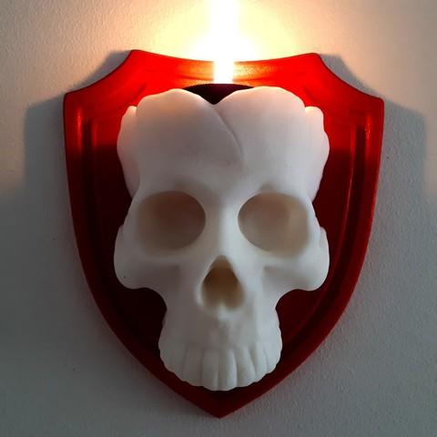 Download 3D printer files Skull Candle, iradj3d