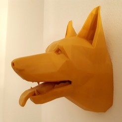 stl file German Shepherd Wall, iradj3d