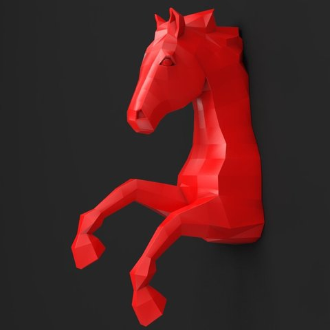horse_wall.jpg Download STL file Horse Wall • 3D print design, iradj3d