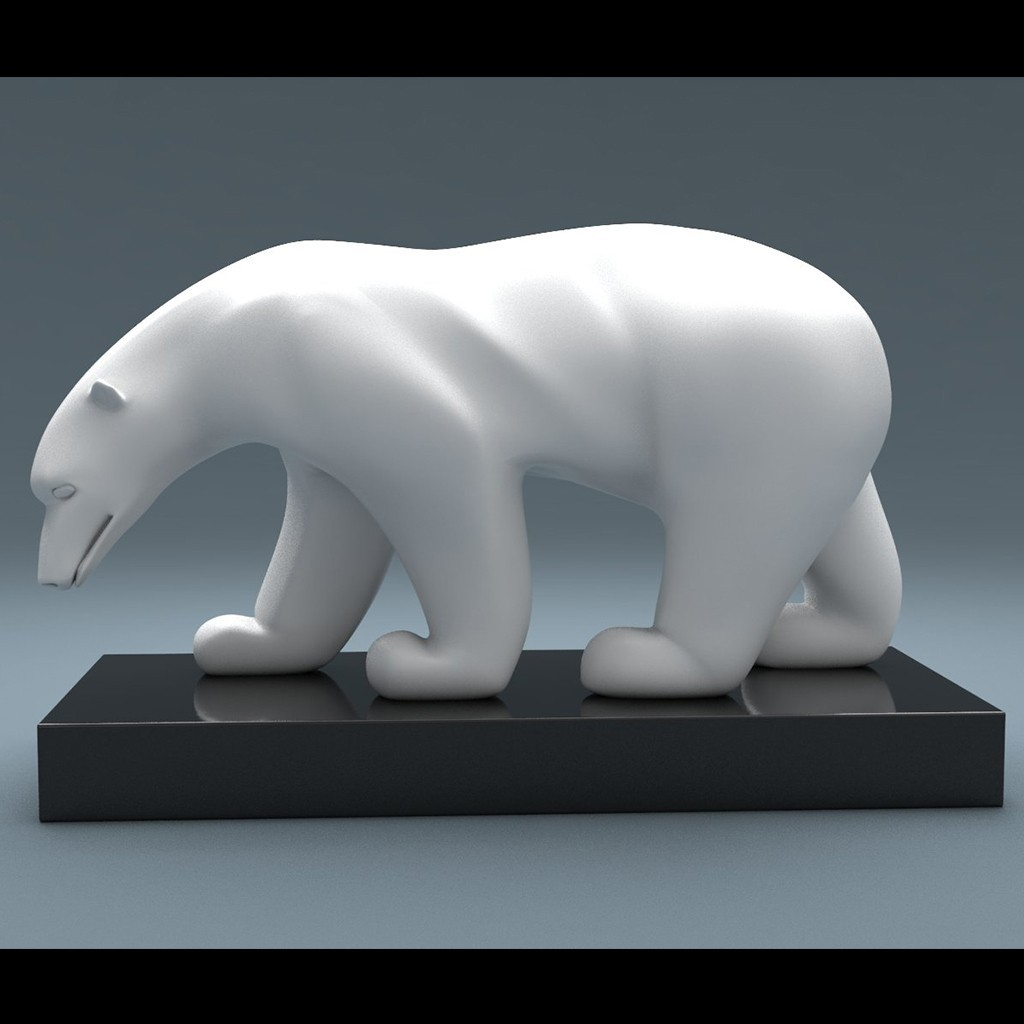 polar_bear01.jpg Download STL file Polar bear • 3D printing template, iradj3d