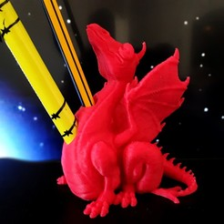 Descargar archivos 3D gratis Portabolígrafos Dragón, iradj3d