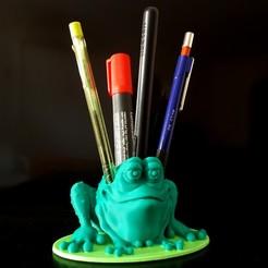 Download STL Frog Penholder, iradj3d