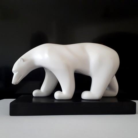 20180326_150146.jpg Download STL file Polar bear • 3D printing template, iradj3d