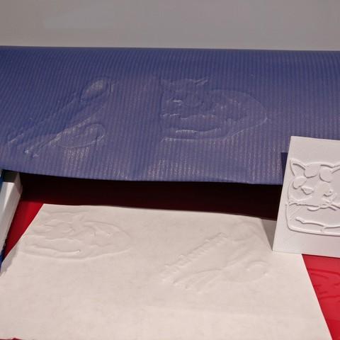 papier gaufré.jpg Download STL file Mini Press #STRATOMAKER • 3D printer design, Jojo_bricole