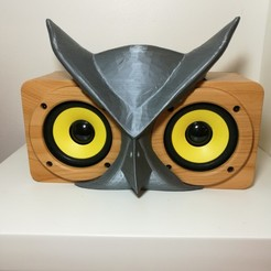 Free 3D printer designs Owl mask for a Buo Speaker, Rodrim
