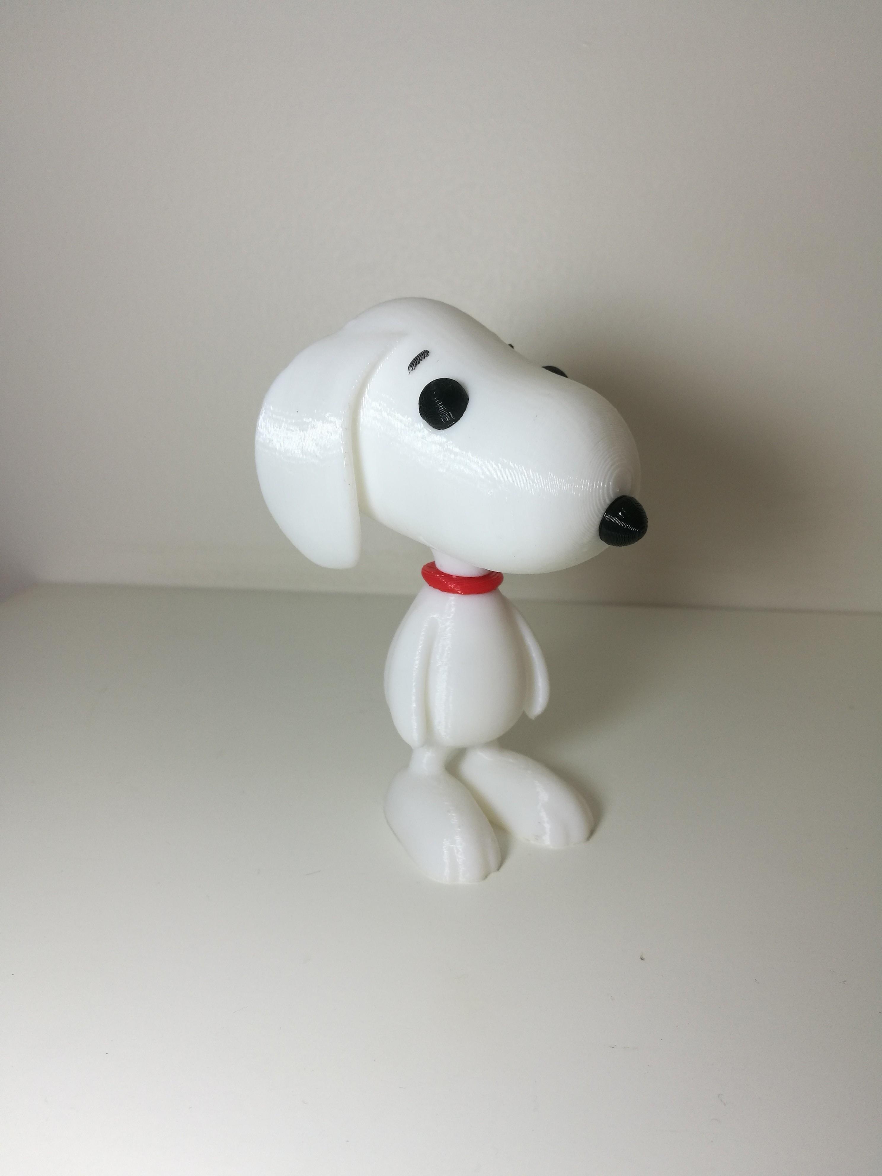 IMG_20171231_032945.jpg Download free STL file Snoopy • 3D printable design, Rodrim