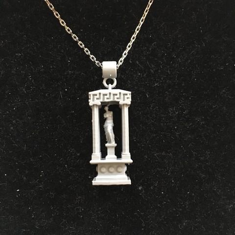 3D printing model Temple-Venus-columns, blason