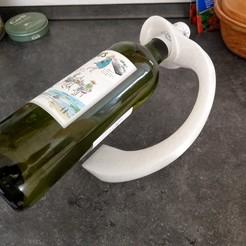 """IMAG0207.jpg Download free STL file Bottle Holder """"Arc"""" • Template to 3D print, bAD_kLOPFER"""