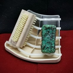 Download free STL file Soap Dish with place for brush, bAD_kLOPFER