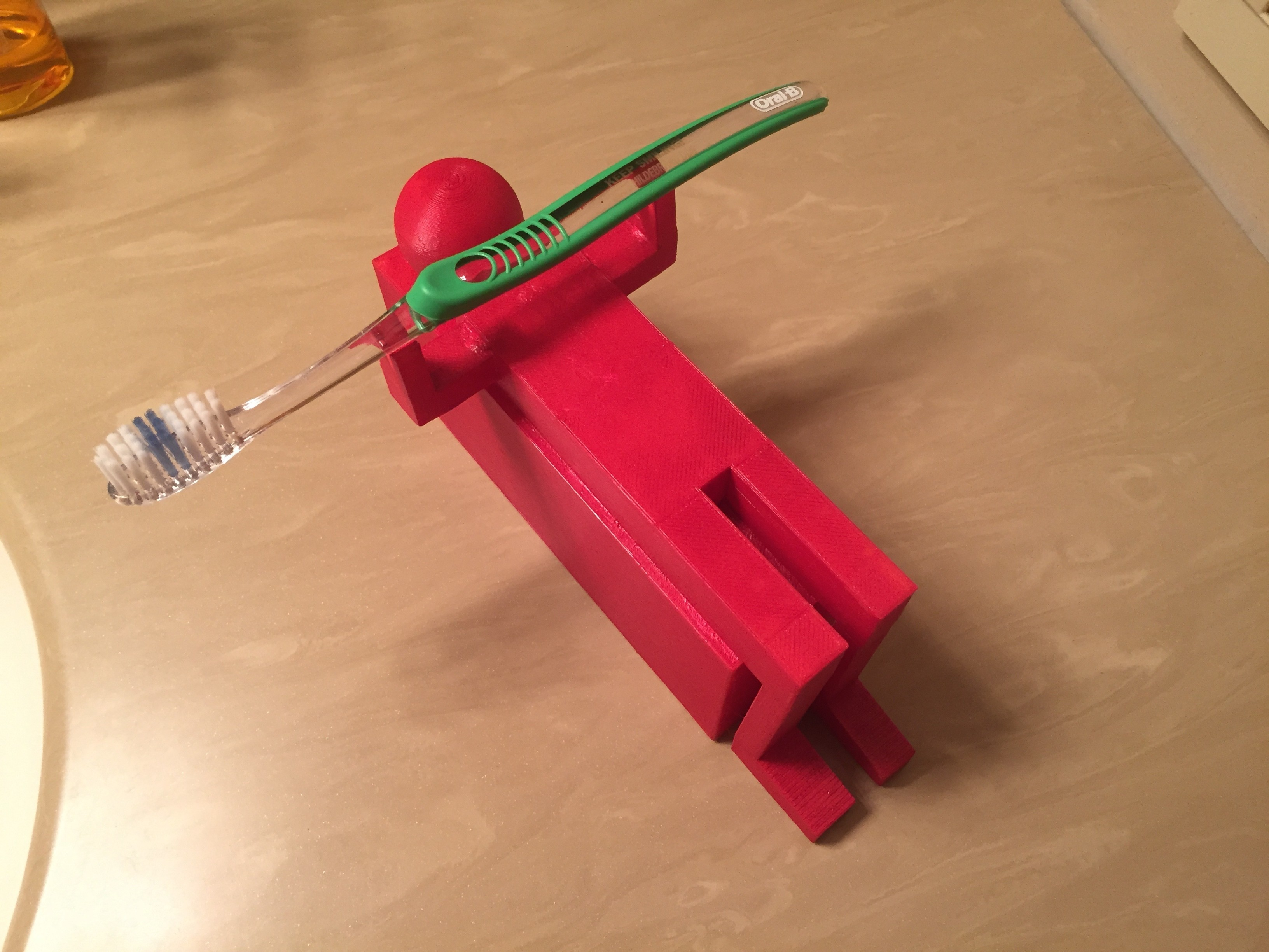 IMG_1842[1].JPG Download free STL file Bench Press Toothbrush Holder • 3D printer model, Z85