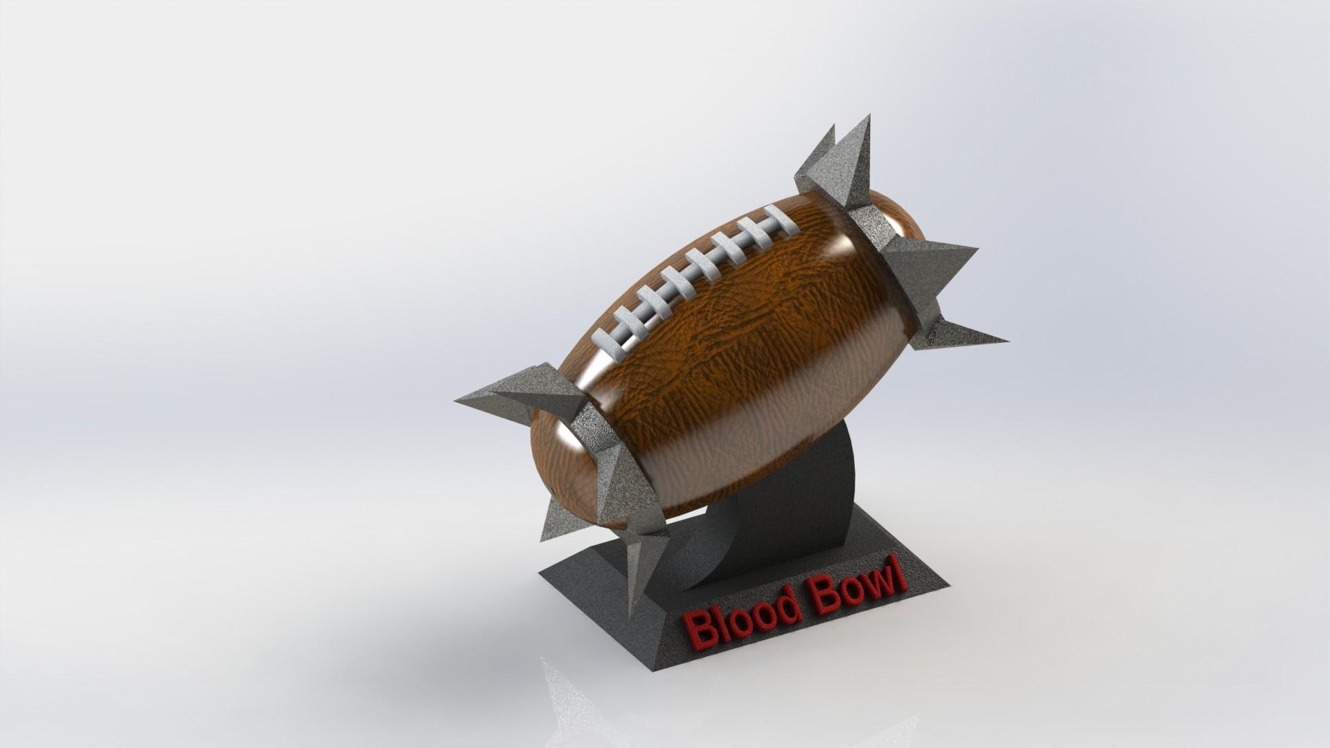 rendu realiste ballon 2.JPG Download free STL file Blood Bowl Ball • 3D printable model, SpartaProd