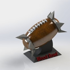 Download free 3D printing designs Blood Bowl Ball, SpartaProd