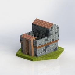 Free barracks Age Of Empire STL file, SpartaProd