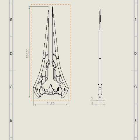 MEP épée halo.PNG Download free STL file halo energy sword • 3D printable template, SpartaProd