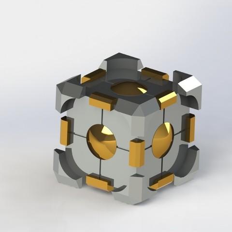 Télécharger fichier imprimante 3D gratuit Cube portal, SpartaProd