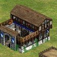 Free stl file barracks Age Of Empire, SpartaProd