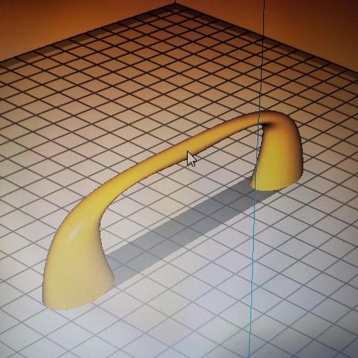 "Download 3D printing designs Soft grip handle 96"" centre-to-centre distance, flo2350"