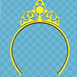 """stl estilo diadema """"corona de la princesa del niño"""", flo2350"""
