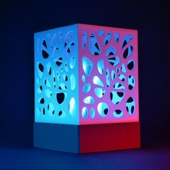 lamp.jpg Download STL file Voronoi/triangles LAMP with 2 switchable shades • 3D print template, Mikolas3D