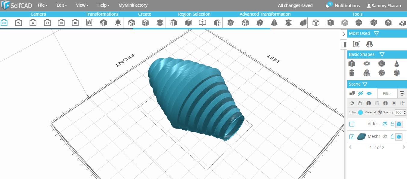 s1.png Download free STL file Spiral Vase • 3D print template, sammy3