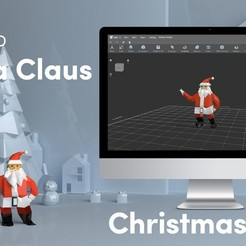 Download free 3D printer designs Low Poly Santa Claus, sammy3