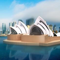 Download free STL file Sydney Opera House • Object to 3D print, sammy3