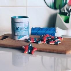 Télécharger STL gratuit Rouleau à biscuits imprimé Diy, sammy3