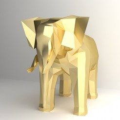 STL Elephant Model, sammy3