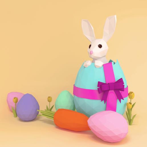 Télécharger fichier STL gratuit Lapin de Pâques • Modèle pour impression 3D, sammy3