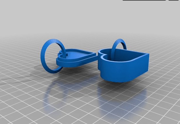 Hear KeyChains.png Download free STL file 3D Printed Heart KeyChains • 3D printer object, sammy3