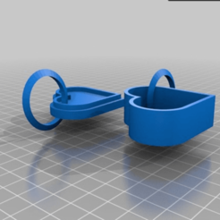 Free 3D Printed Heart KeyChains 3D printer file, sammy3