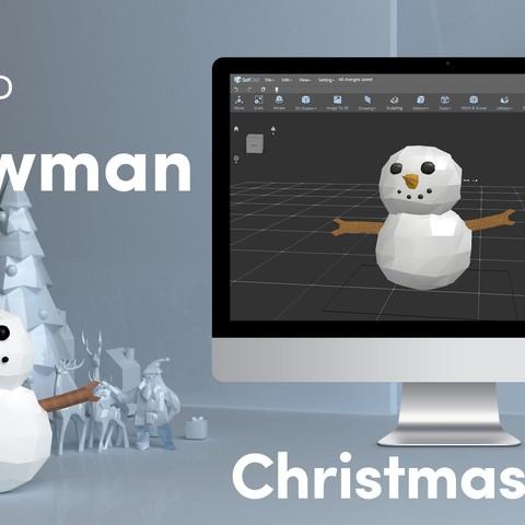 Télécharger fichier 3D gratuit Faible poly Snowman, sammy3