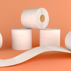 Download free STL file 3D Printed Toilet Roll • 3D print object, sammy3